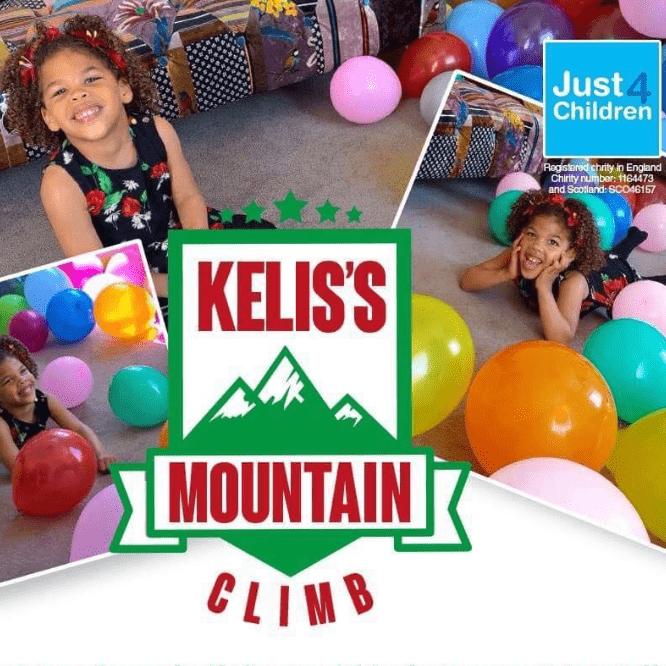 Helen Broomes raising for Kelis's Mountain Climb for Just4Children