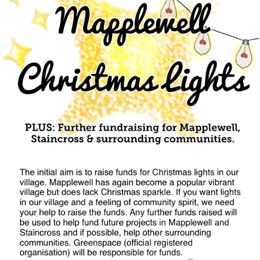 Mapplewell Christmas Lights and further community funding