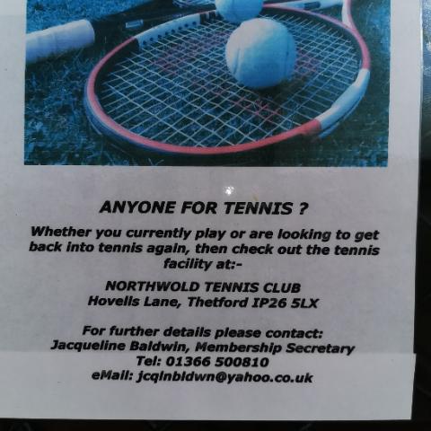 Northwold Tennis club