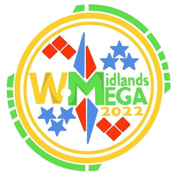 West Midlands Region Geocaching Mega 2022 cause logo