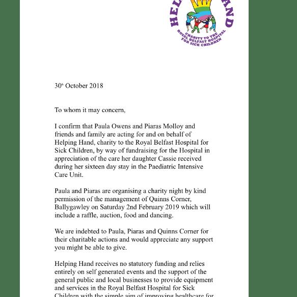 Raising For Helping Hand - Paula Owens