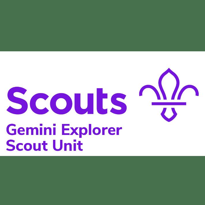 Gemini Explorer Scout Unit cause logo