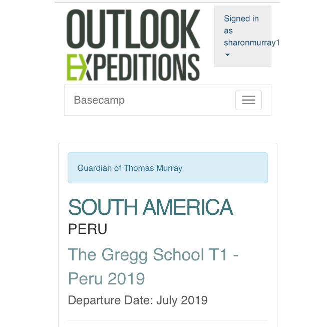 Outlook Expeditions Peru 2019 - Thomas Murray