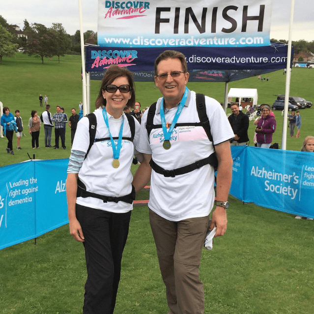 Stonehenge Trek for Alzheimers 2016 - Bernard and Sara Uzzell