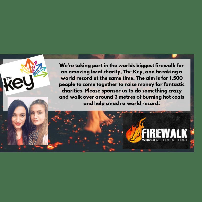 Fire Walkers Raising for The Key 2018 - Gemma Lovell