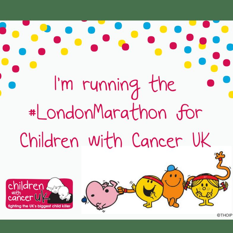 London Marathon in aid of  Children with Cancer UK 2018 - Levi Stevens