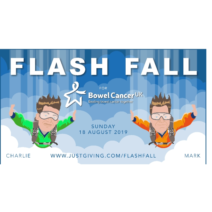 Flash Fall For Bowel Cancer UK - Mark And Charlie