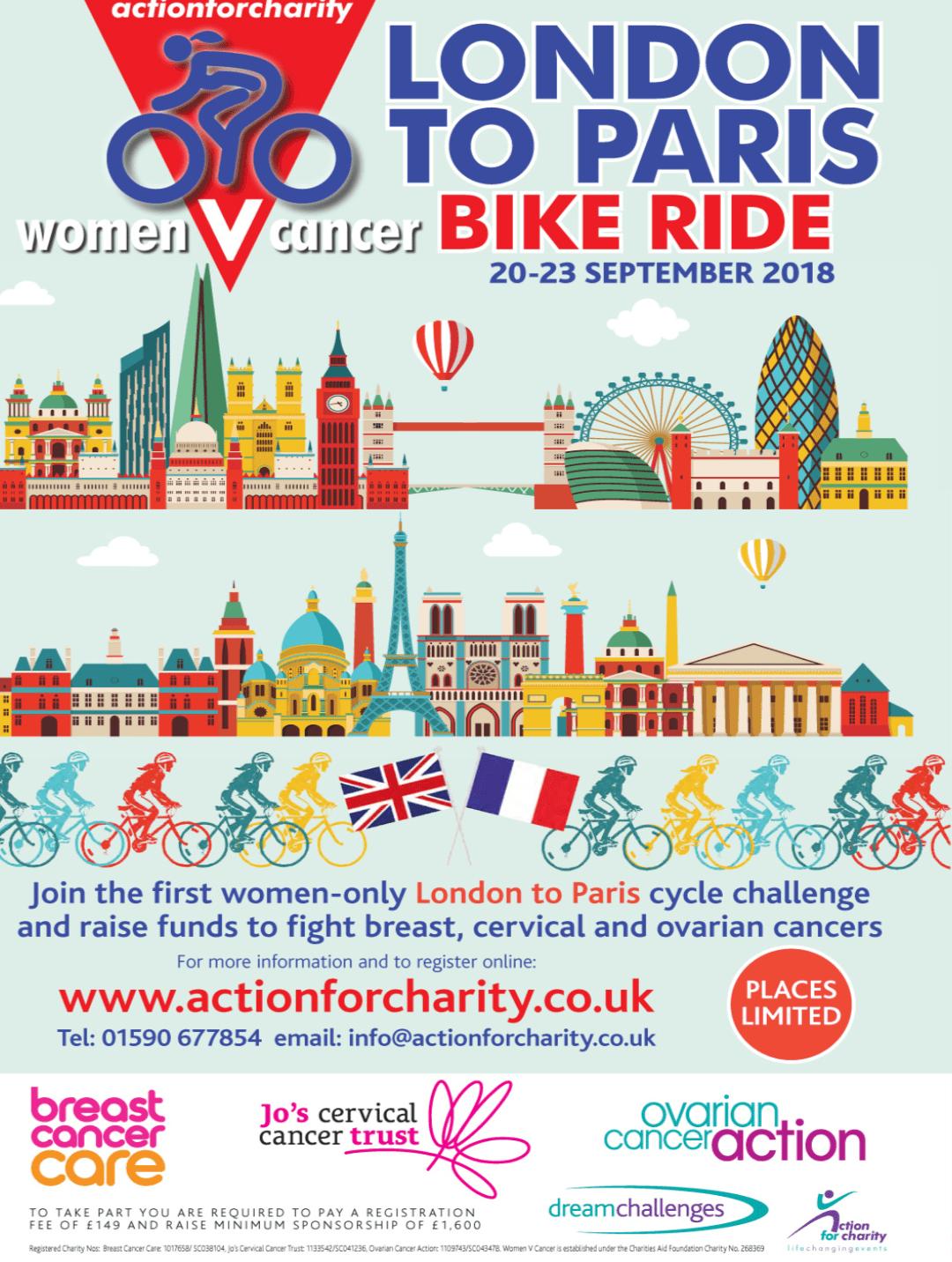 Women V Cancer London to Paris Bike Ride 2017 - Megan Sutliffe