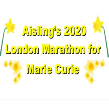 London Marathon 2020 - Aisling Power raising for Marie Curie