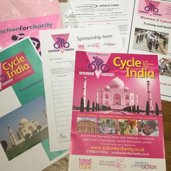 Women V Cancer Cycle India 2018 - Sarah Webb