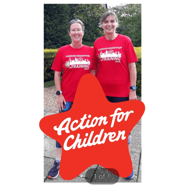 Almost Athletes Running for Action for Children