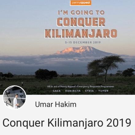 PennyAppealKili 2020 - Umar Hakim