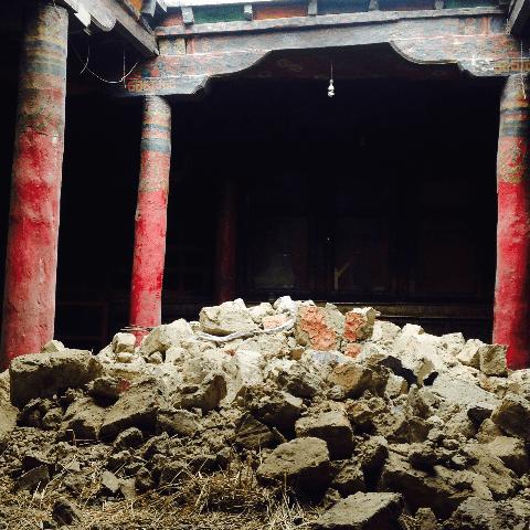 Nepal Upper Mustang monastery reconstruction