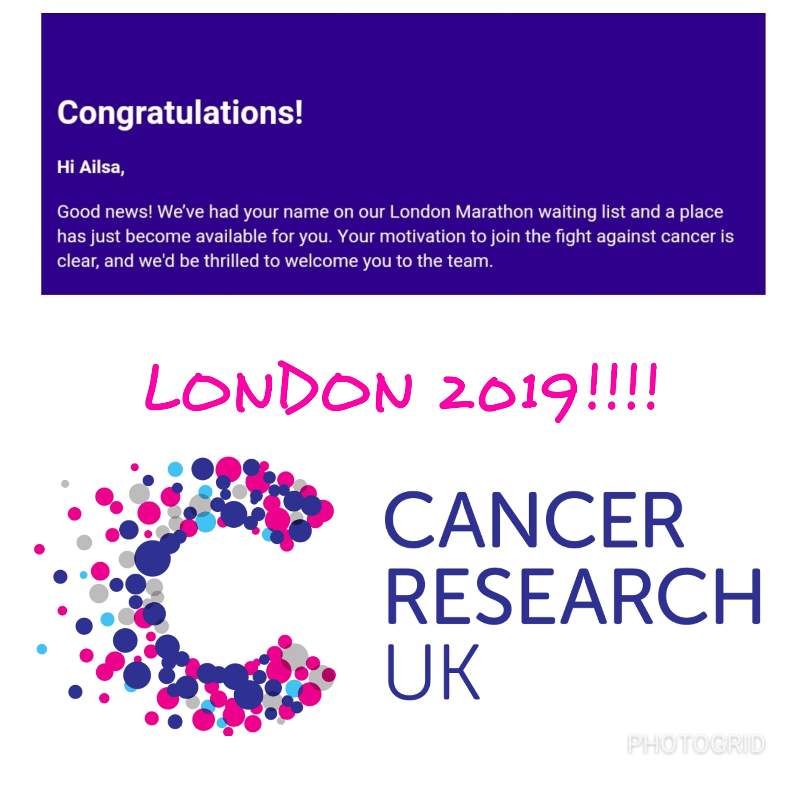Ailsa Beattie London Marathon 2019 in aid of Cancer Research UK