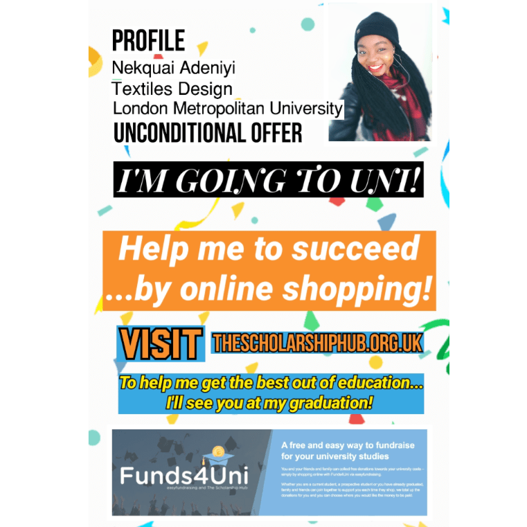 Funds4uni - Nekquai Adeniyi - 2017