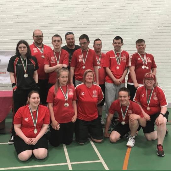 North Staffs Special Olympics Badminton Team