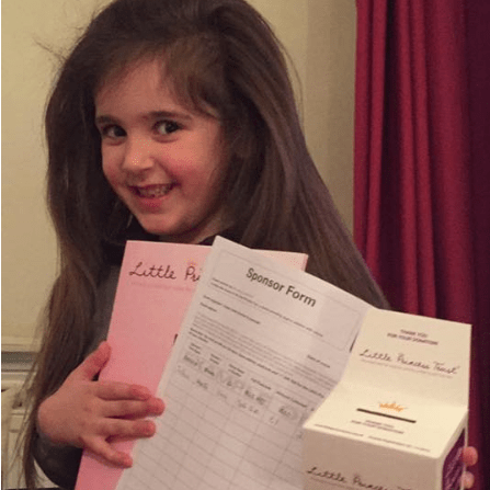 Ruby-Lou Jewell Hair Donation in aid of Little Princess Trust