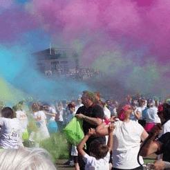 Rainbow Run Swansea in aid of Ty Hafan  - Emyr and Sarah Gilligan