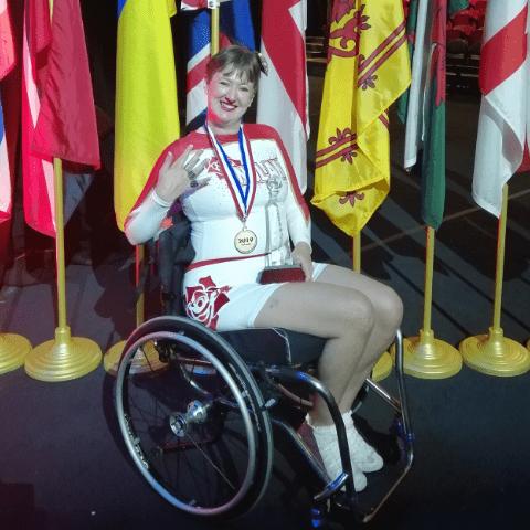 World Championships 2017 Team England ParaCheer - Wendy Armitage