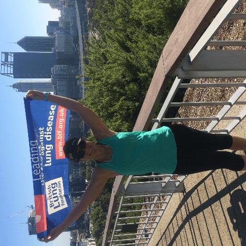 London marathon For British Lung foundation 2017 - Helen Randle