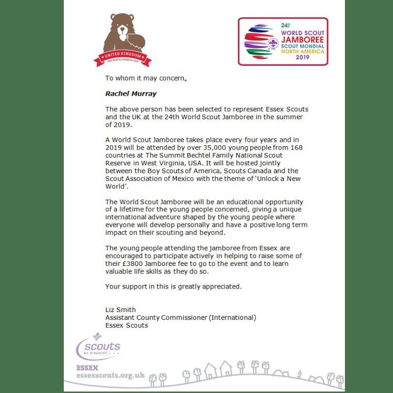World Scout Jamboree USA 2019 - Rachel Murray