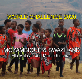 World Challenge Mozambique and Swaziland 2020 - Ella McLean