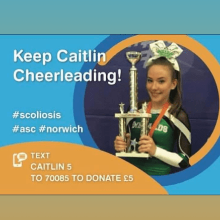 Just4Children - Keep Caitlin Cheerleading