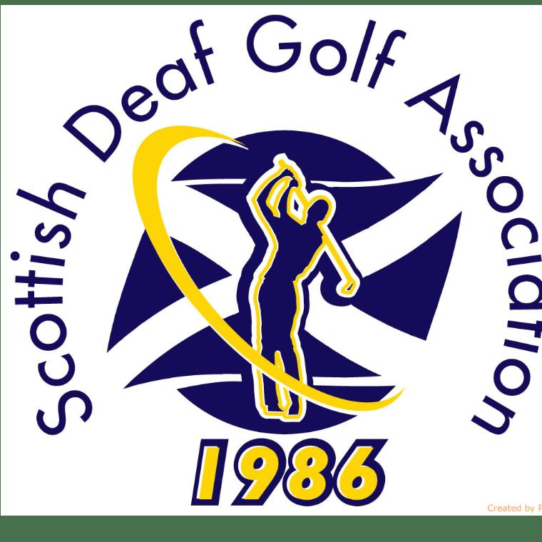 Scottish Deaf Golf Association cause logo