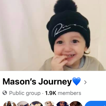 Mason's Journey raising for Anthony Nolan Charity