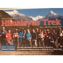 Helen Rollason Cancer Charity: Himalaya Trek 2014 - Jane Harding