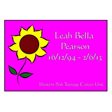 In memory Of Leah Bella Pearson - Western Park Teenage Cancer Unit