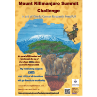 World Cancer Research Mount Kilimanjaro 2016 - Philip Brunkard
