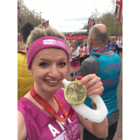 London Marathon 2017 for Clic Sargeant - Amy Glover