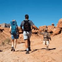 Britain V Cancer Jordan Desert Trek - Jude Alderman and Frances Howard