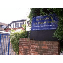 Our Lady and St Philip Neri Primary School Friends Association cause logo